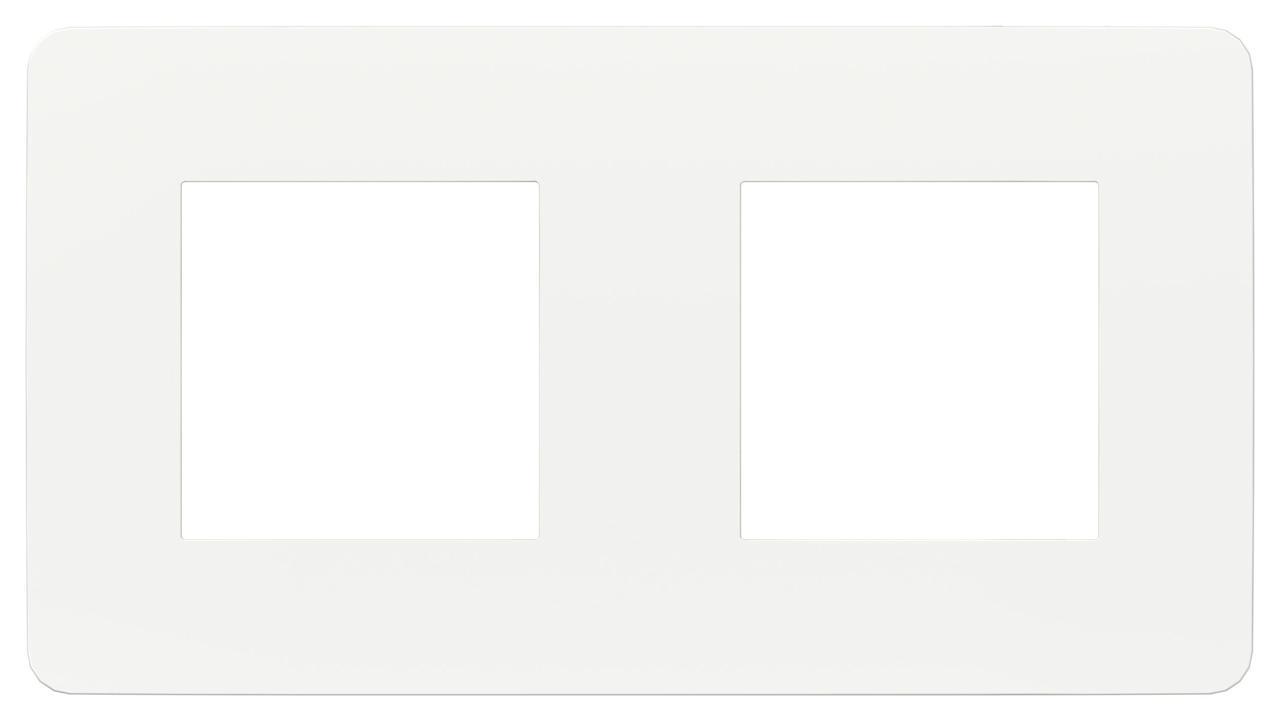Рамка 2-ая (двойная), Белый, серия Unica Studio, Schneider Electric