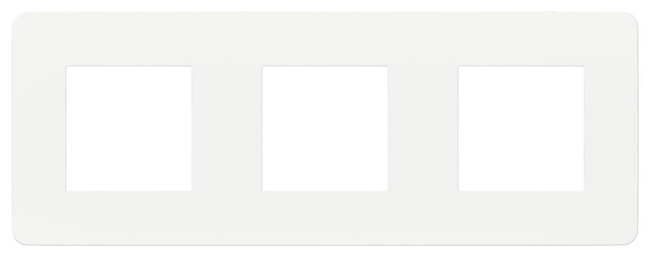 Рамка 3-ая (тройная), Белый, серия Unica Studio, Schneider Electric