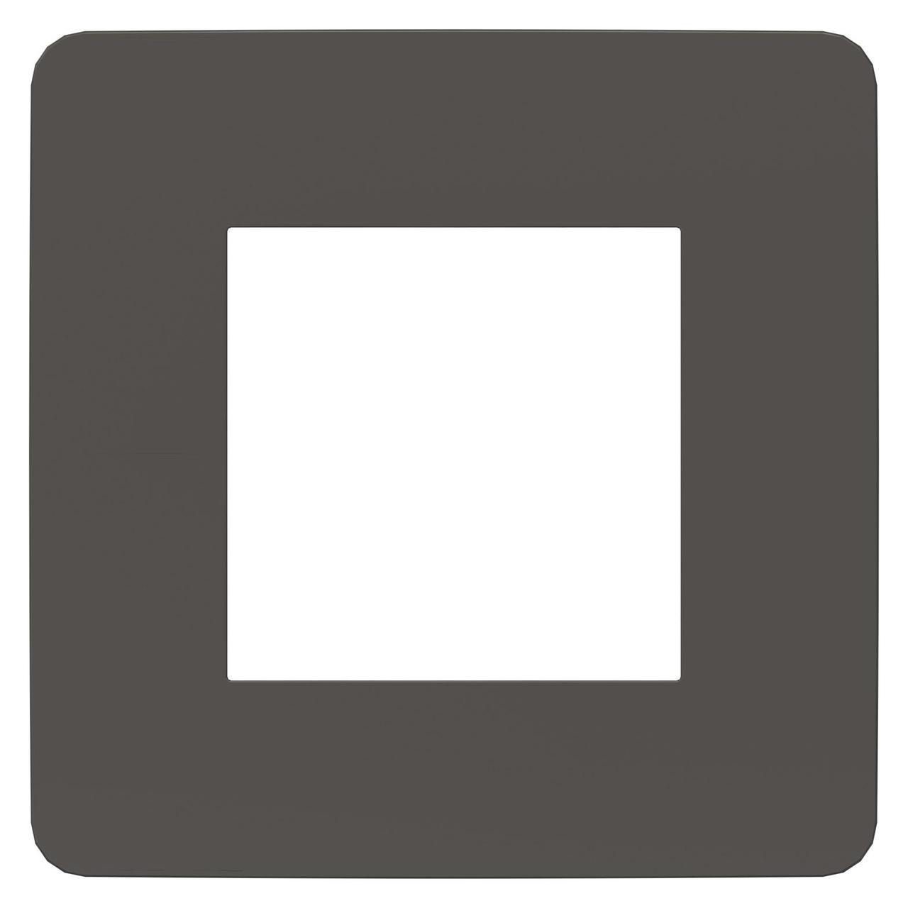 Рамка 1-ая (одинарная), Дымчато-серый/Белый, серия Unica Studio, Schneider Electric