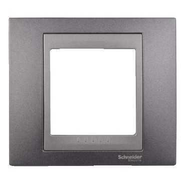 Рамка 1-ая (одинарная), Грэй/Графит (металл), серия UNICA TOP/CLASS, Schneider Electric