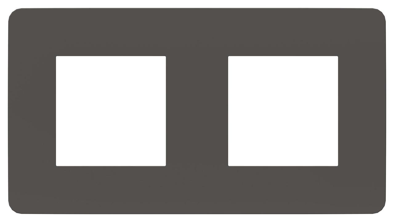Рамка 2-ая (двойная), Дымчато-серый/Белый, серия Unica Studio, Schneider Electric
