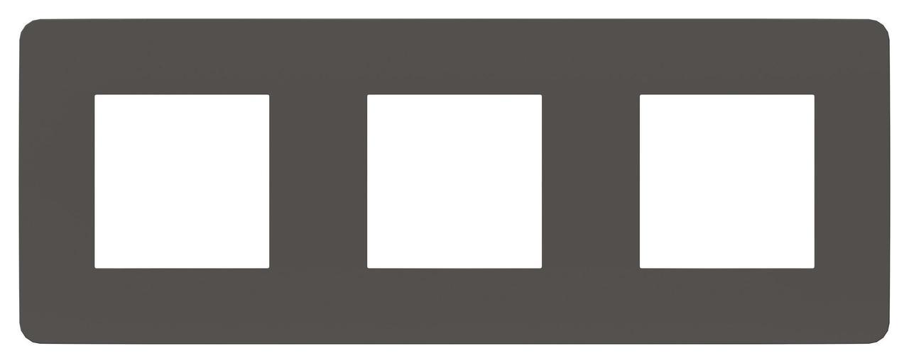 Рамка 3-ая (тройная), Дымчато-серый/Белый, серия Unica Studio, Schneider Electric