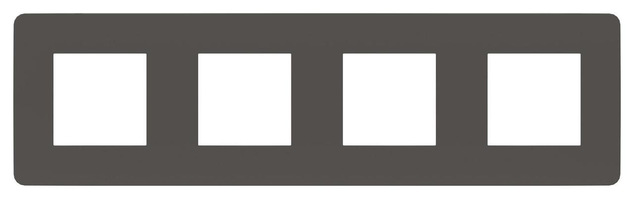 Рамка 4-ая (четверная), Дымчато-серый/Антрацит, серия Unica Studio, Schneider Electric