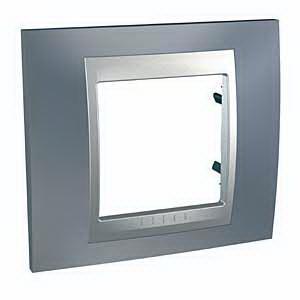 Рамка 1-ая (одинарная), Грэй/Алюминий (металл), серия UNICA TOP/CLASS, Schneider Electric