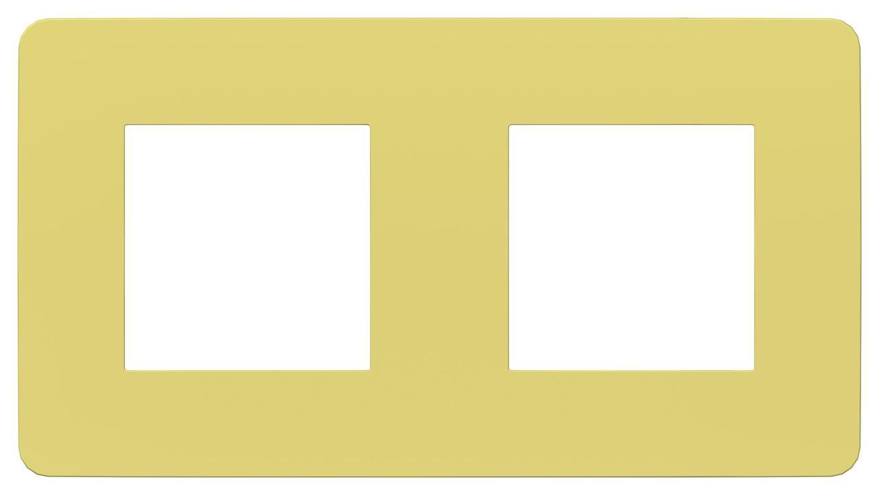 Рамка 2-ая (двойная), Зеленое яблоко/Белый, серия Unica Studio, Schneider Electric
