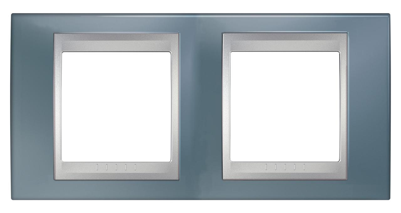 Рамка 2-ая (двойная), Грэй/Алюминий (металл), серия UNICA TOP/CLASS, Schneider Electric