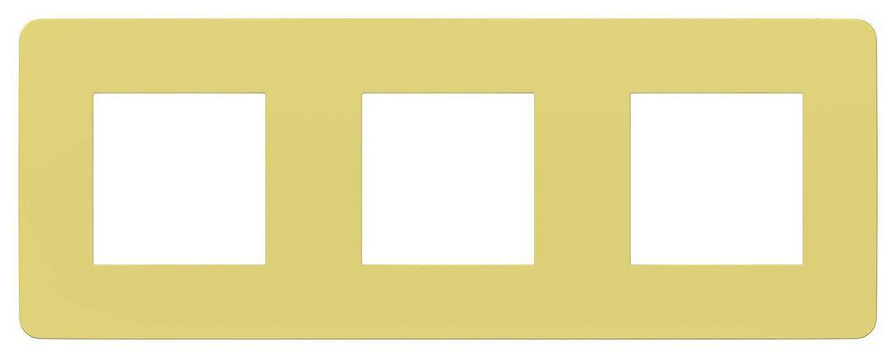 Рамка 3-ая (тройная), Зеленое яблоко/Бежевый, серия Unica Studio, Schneider Electric