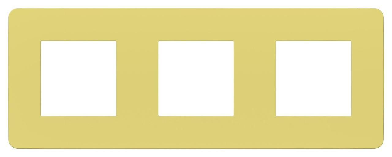 Рамка 3-ая (тройная), Зеленое яблоко/Белый, серия Unica Studio, Schneider Electric