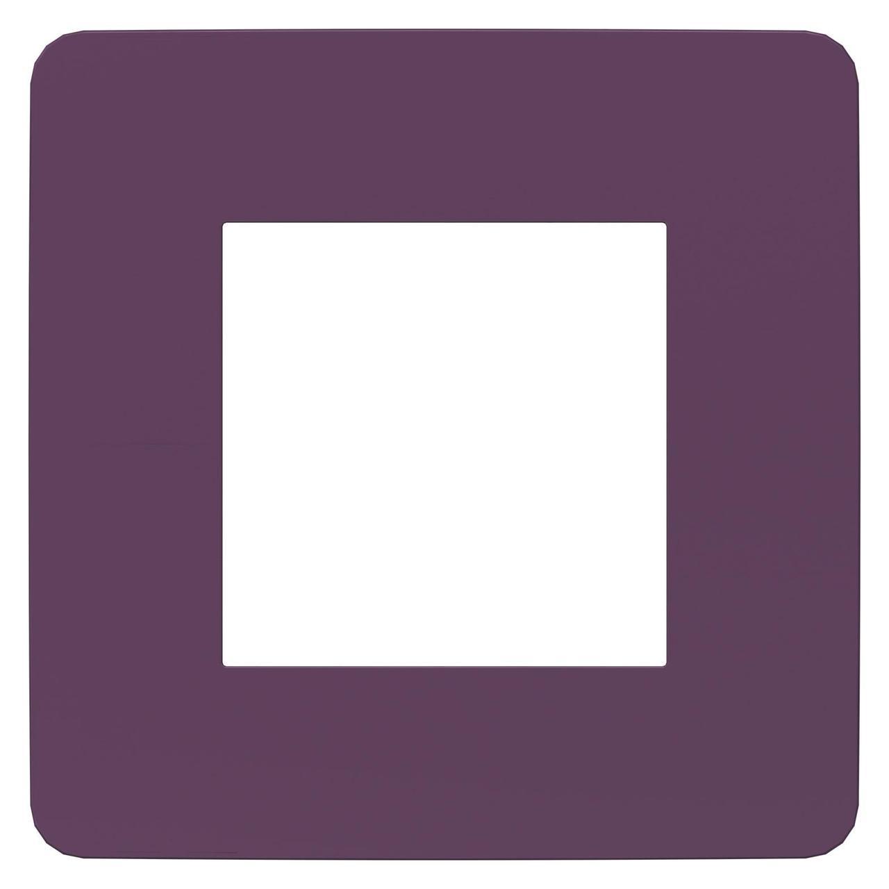 Рамка 1-ая (одинарная), Лиловый/Бежевый, серия Unica Studio, Schneider Electric