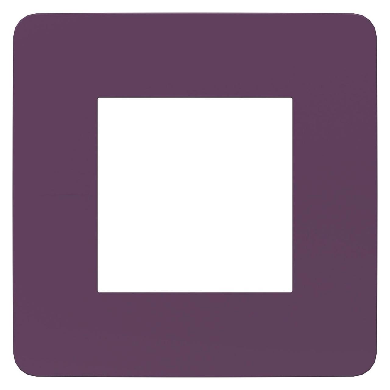 Рамка 1-ая (одинарная), Лиловый/Белый, серия Unica Studio, Schneider Electric