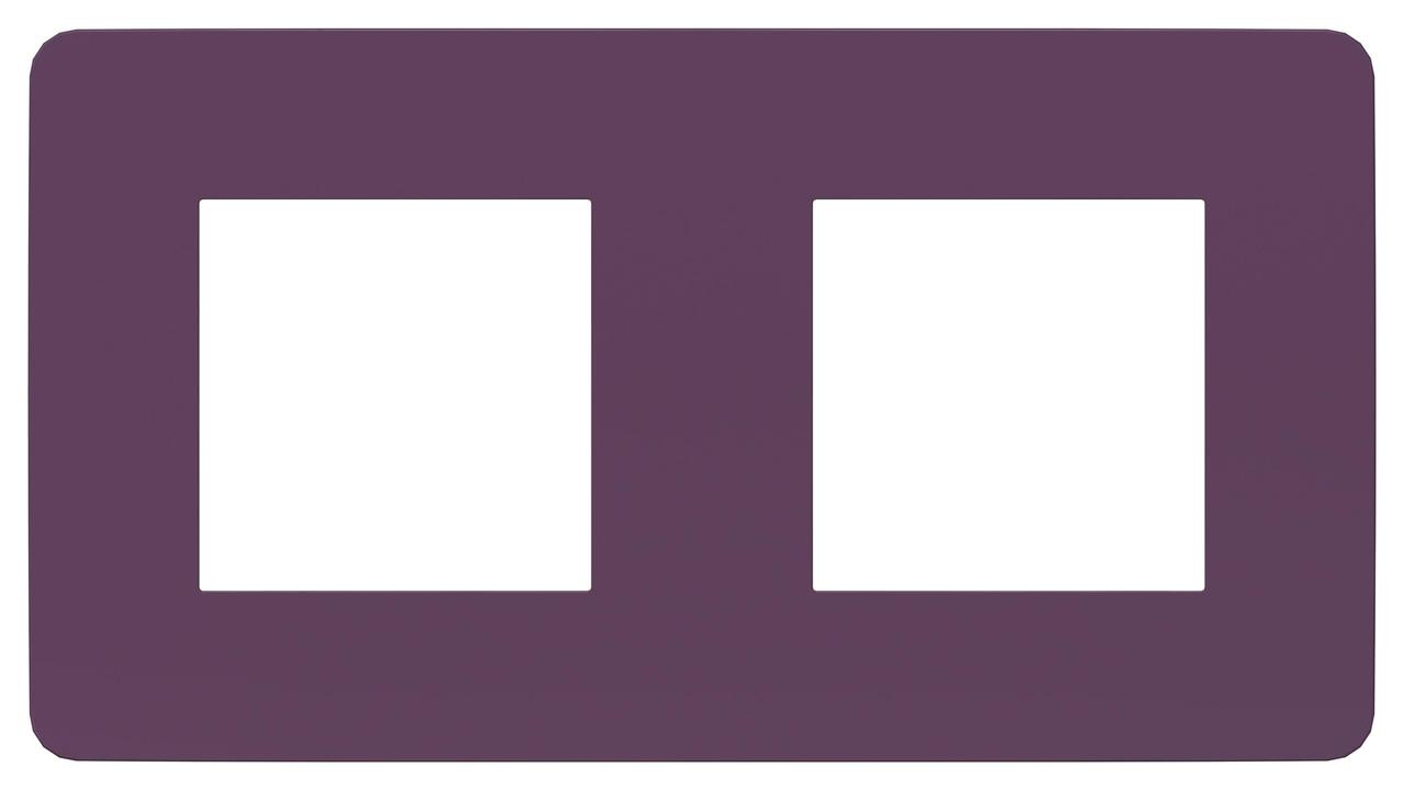 Рамка 2-ая (двойная), Лиловый/Бежевый, серия Unica Studio, Schneider Electric