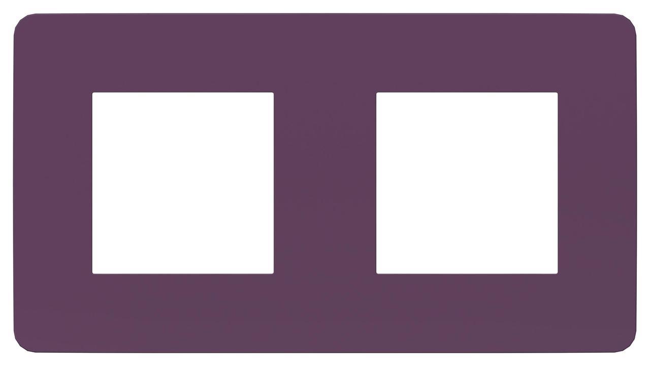 Рамка 2-ая (двойная), Лиловый/Белый, серия Unica Studio, Schneider Electric