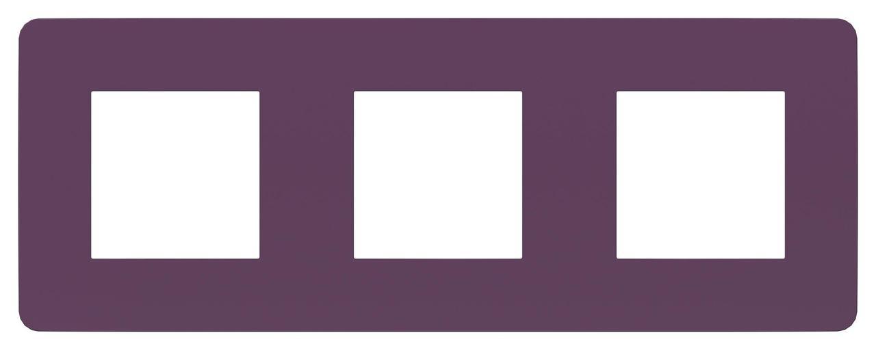 Рамка 3-ая (тройная), Лиловый/Бежевый, серия Unica Studio, Schneider Electric
