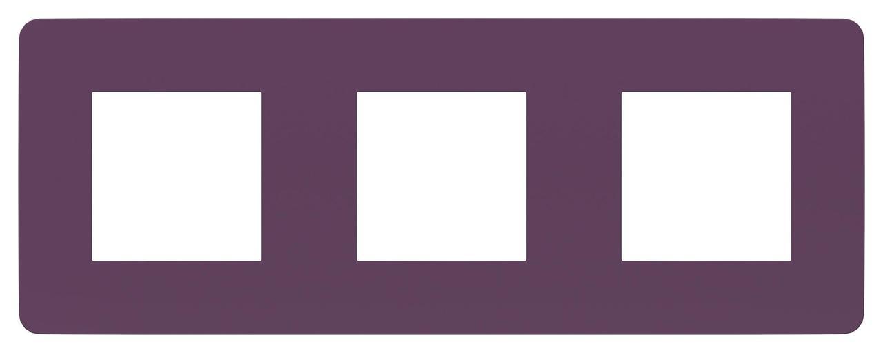 Рамка 3-ая (тройная), Лиловый/Белый, серия Unica Studio, Schneider Electric