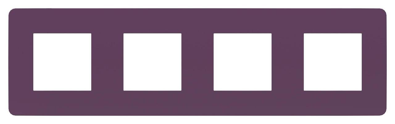 Рамка 4-ая (четверная), Лиловый/Бежевый, серия Unica Studio, Schneider Electric