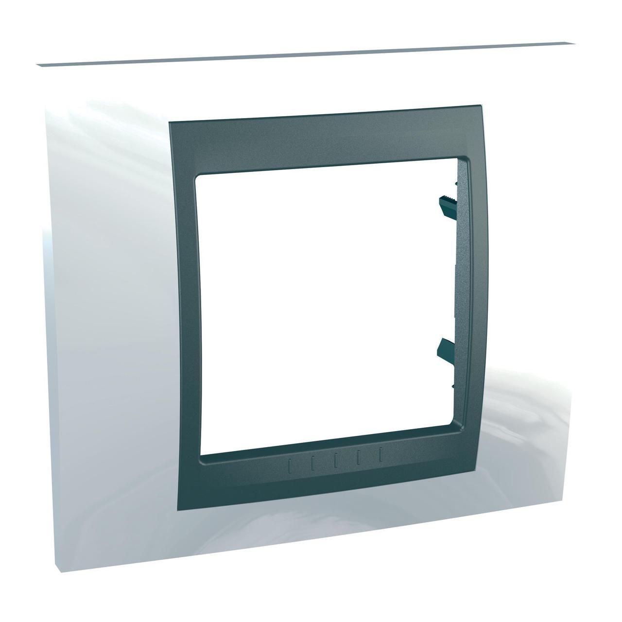 Рамка 1-ая (одинарная), Нордик/Графит (металл), серия UNICA TOP/CLASS, Schneider Electric