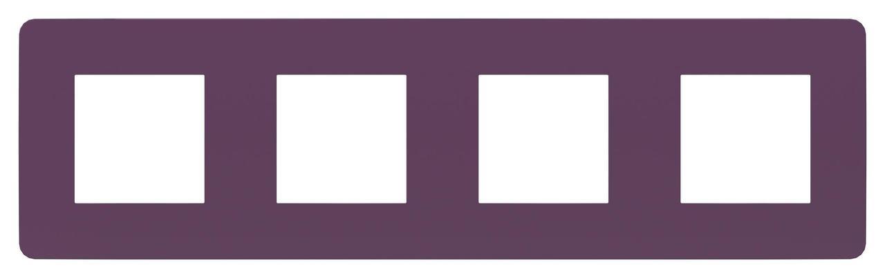 Рамка 4-ая (четверная), Лиловый/Белый, серия Unica Studio, Schneider Electric