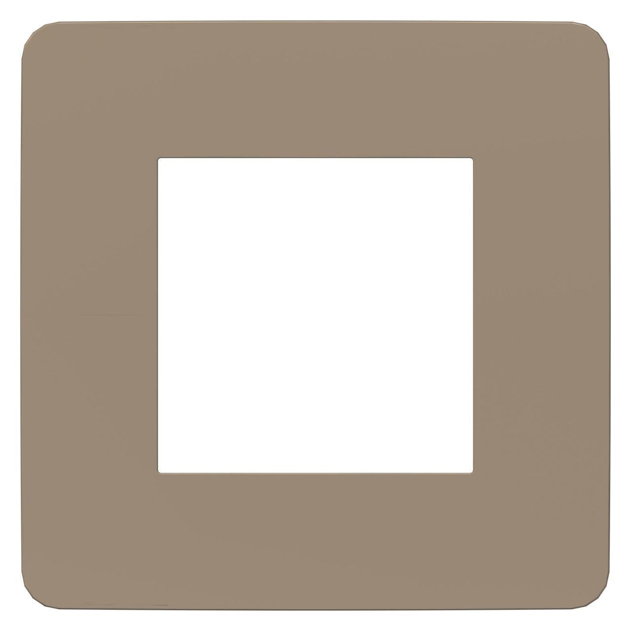 Рамка 1-ая (одинарная), Песочный/Антрацит, серия Unica Studio, Schneider Electric