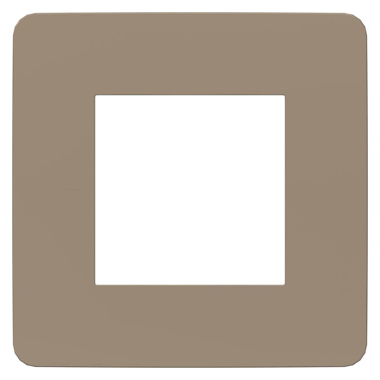 Рамка 1-ая (одинарная), Песочный/Бежевый, серия Unica Studio, Schneider Electric
