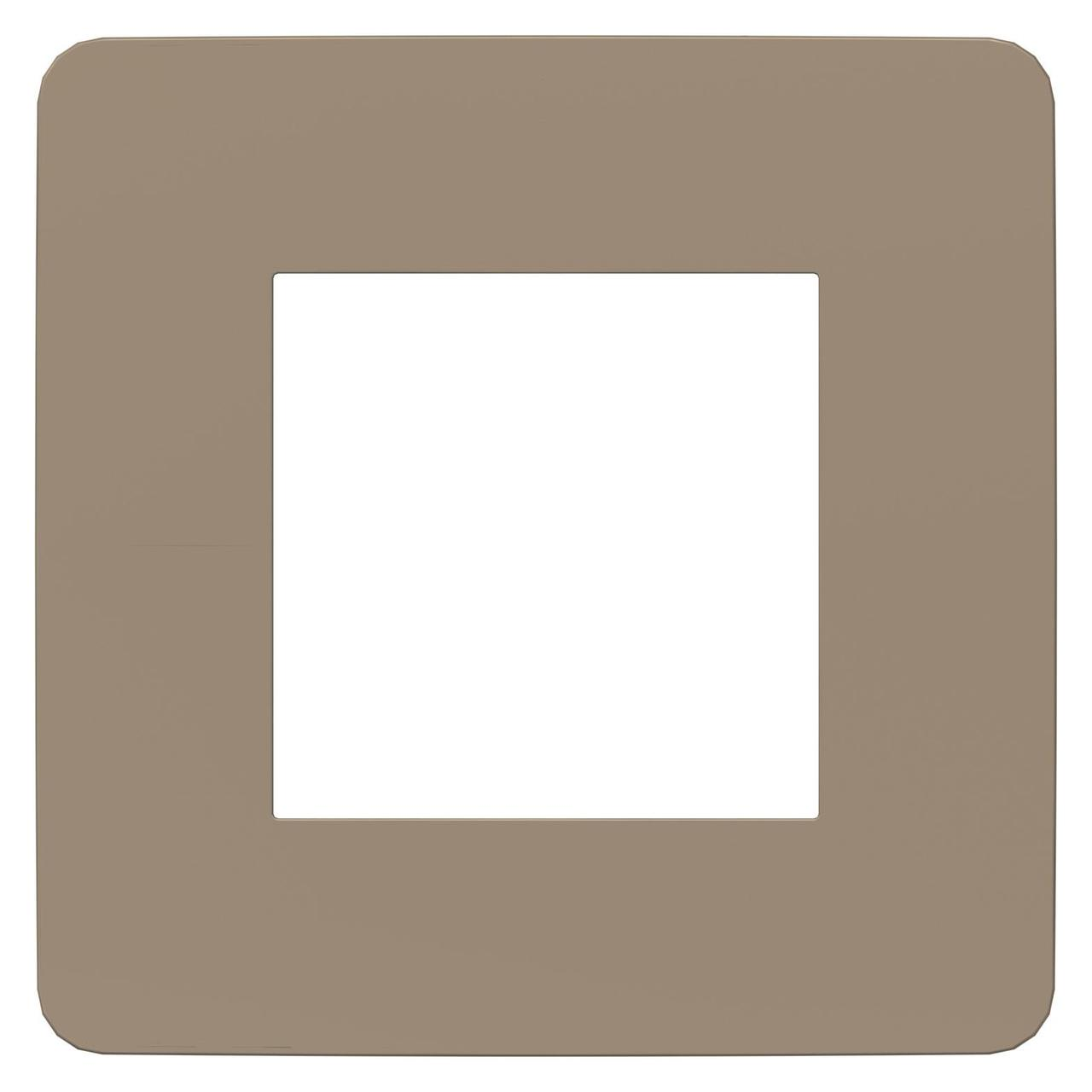 Рамка 1-ая (одинарная), Песочный/Белый, серия Unica Studio, Schneider Electric