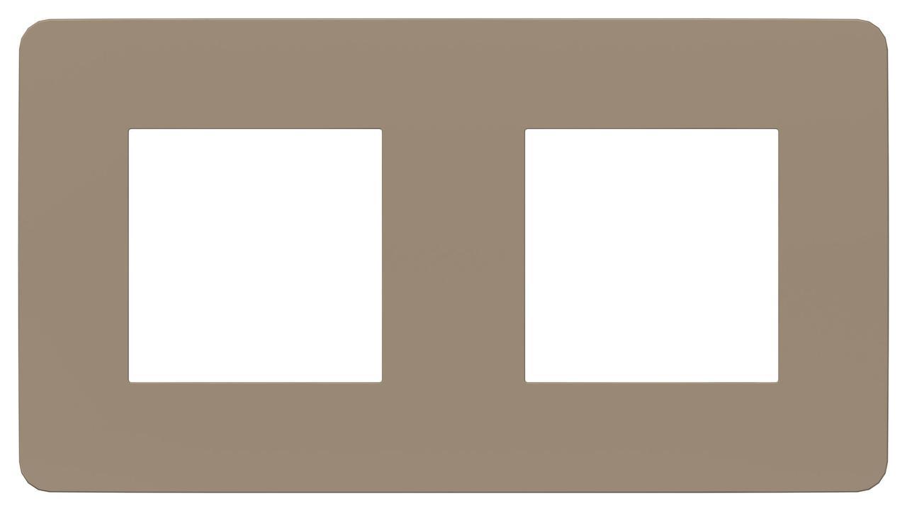 Рамка 2-ая (двойная), Песочный/Антрацит, серия Unica Studio, Schneider Electric