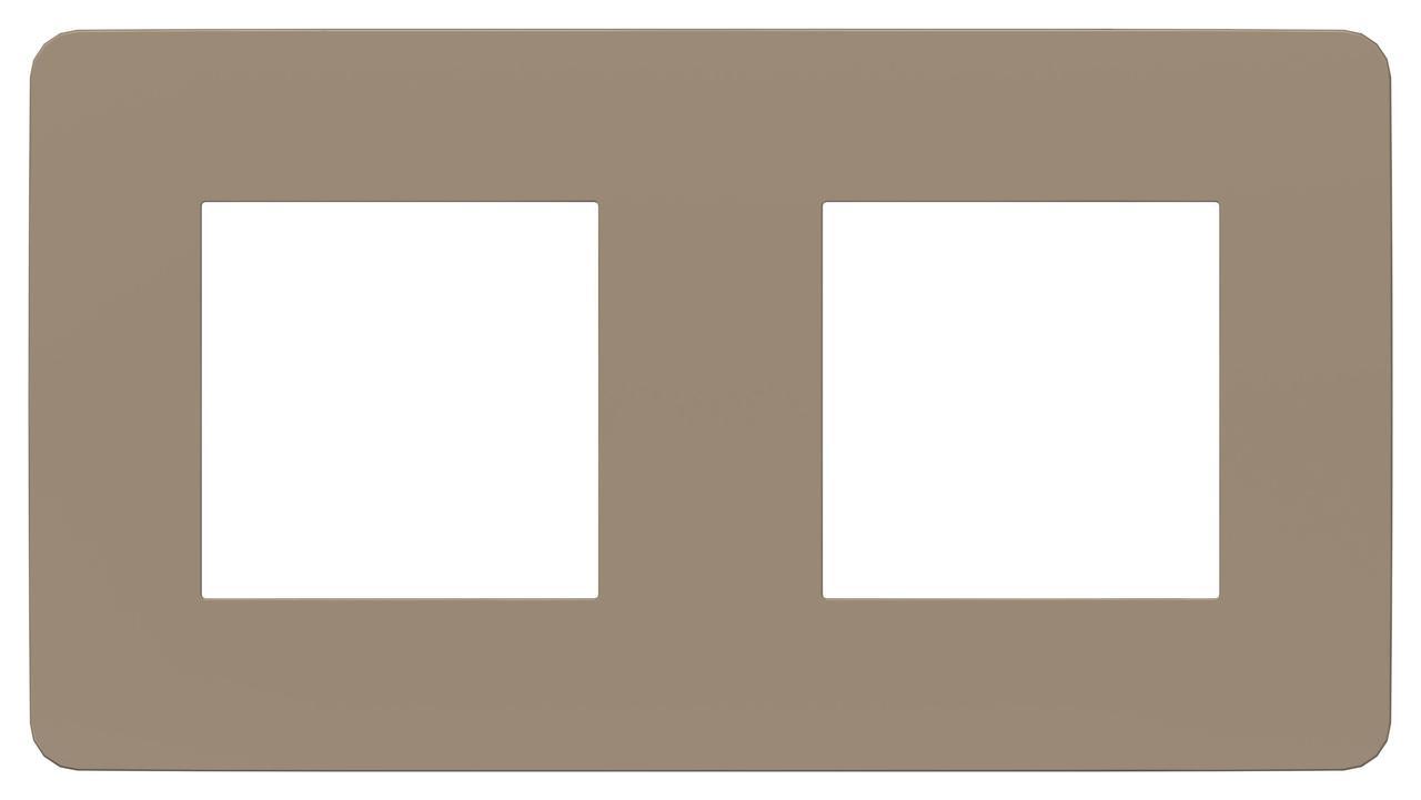 Рамка 2-ая (двойная), Песочный/Белый, серия Unica Studio, Schneider Electric