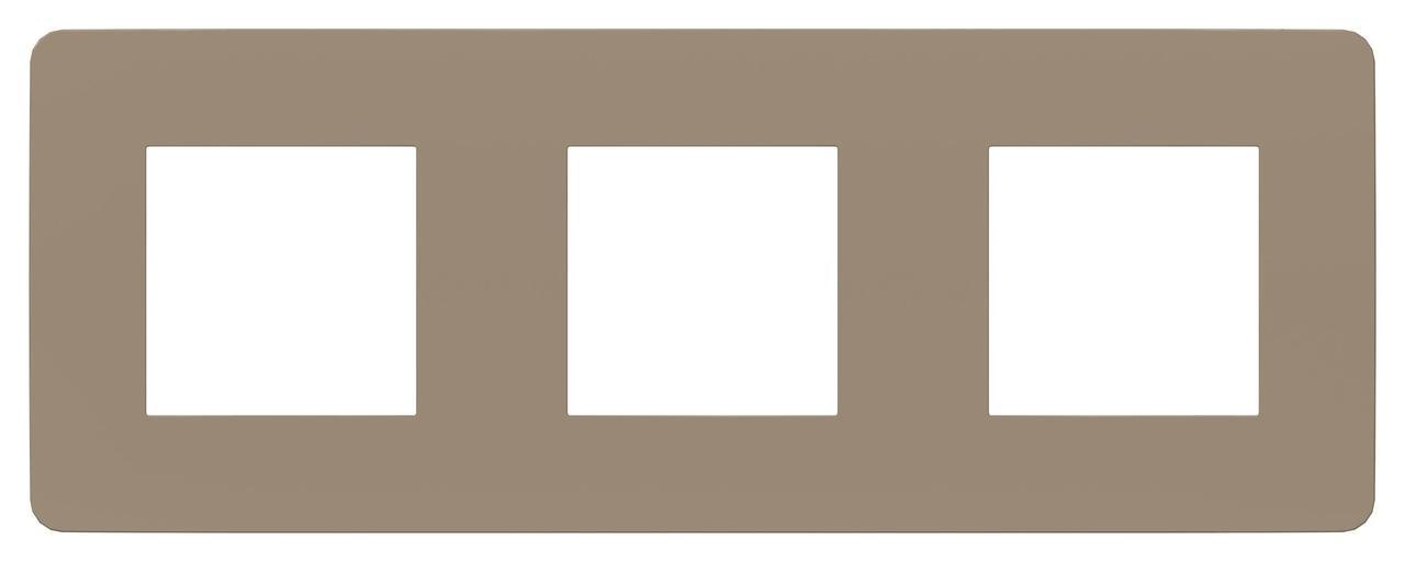 Рамка 3-ая (тройная), Песочный/Антрацит, серия Unica Studio, Schneider Electric