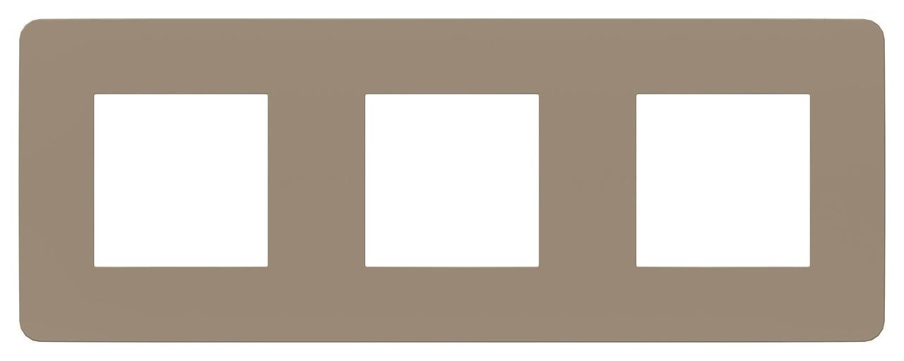 Рамка 3-ая (тройная), Песочный/Бежевый, серия Unica Studio, Schneider Electric