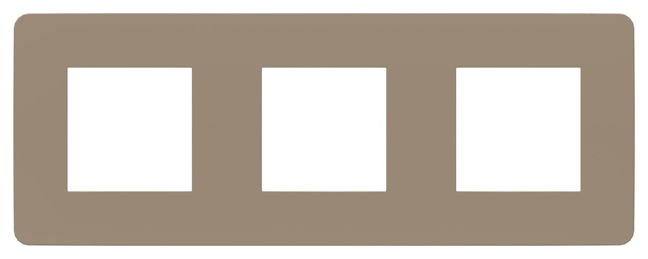 Рамка 3-ая (тройная), Песочный/Белый, серия Unica Studio, Schneider Electric