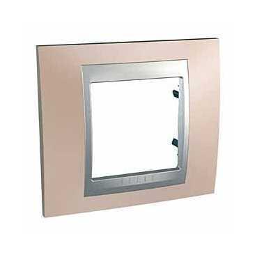 Рамка 1-ая (одинарная), Оникс/Алюминий (металл), серия UNICA TOP/CLASS, Schneider Electric