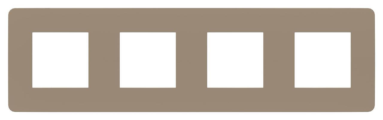 Рамка 4-ая (четверная), Песочный/Бежевый, серия Unica Studio, Schneider Electric