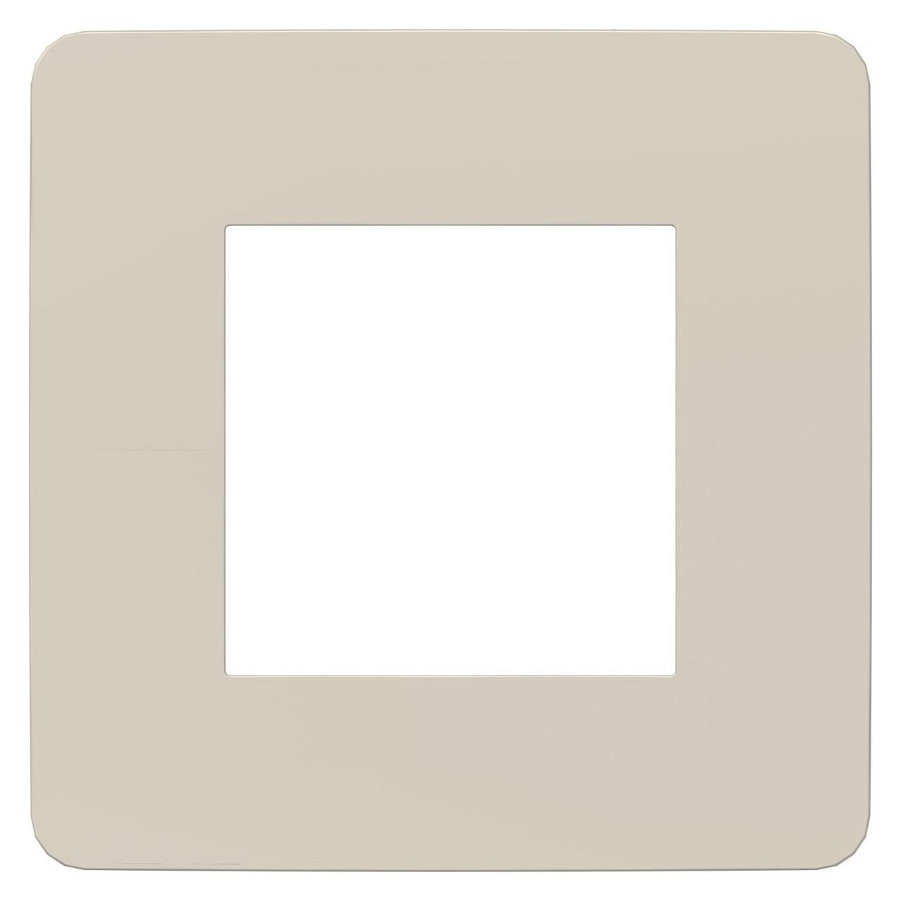 Рамка 1-ая (одинарная), Шампань/Белый, серия Unica Studio, Schneider Electric