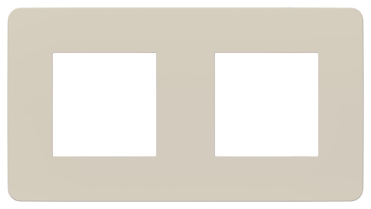 Рамка 2-ая (двойная), Шампань/Белый, серия Unica Studio, Schneider Electric