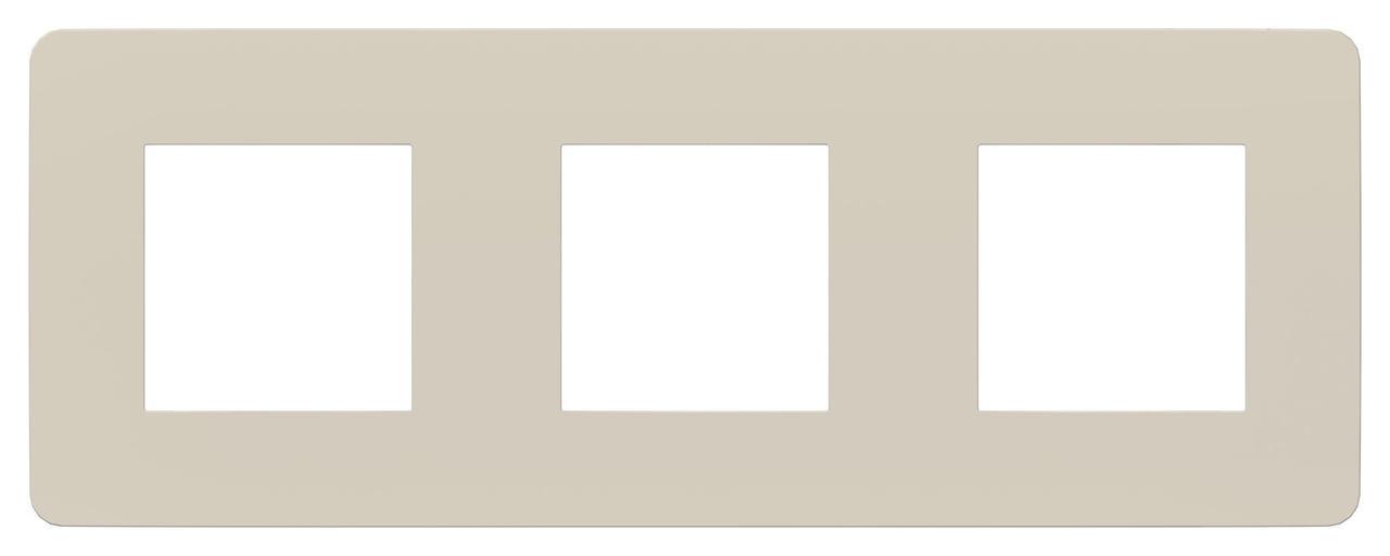Рамка 3-ая (тройная), Шампань/Белый, серия Unica Studio, Schneider Electric