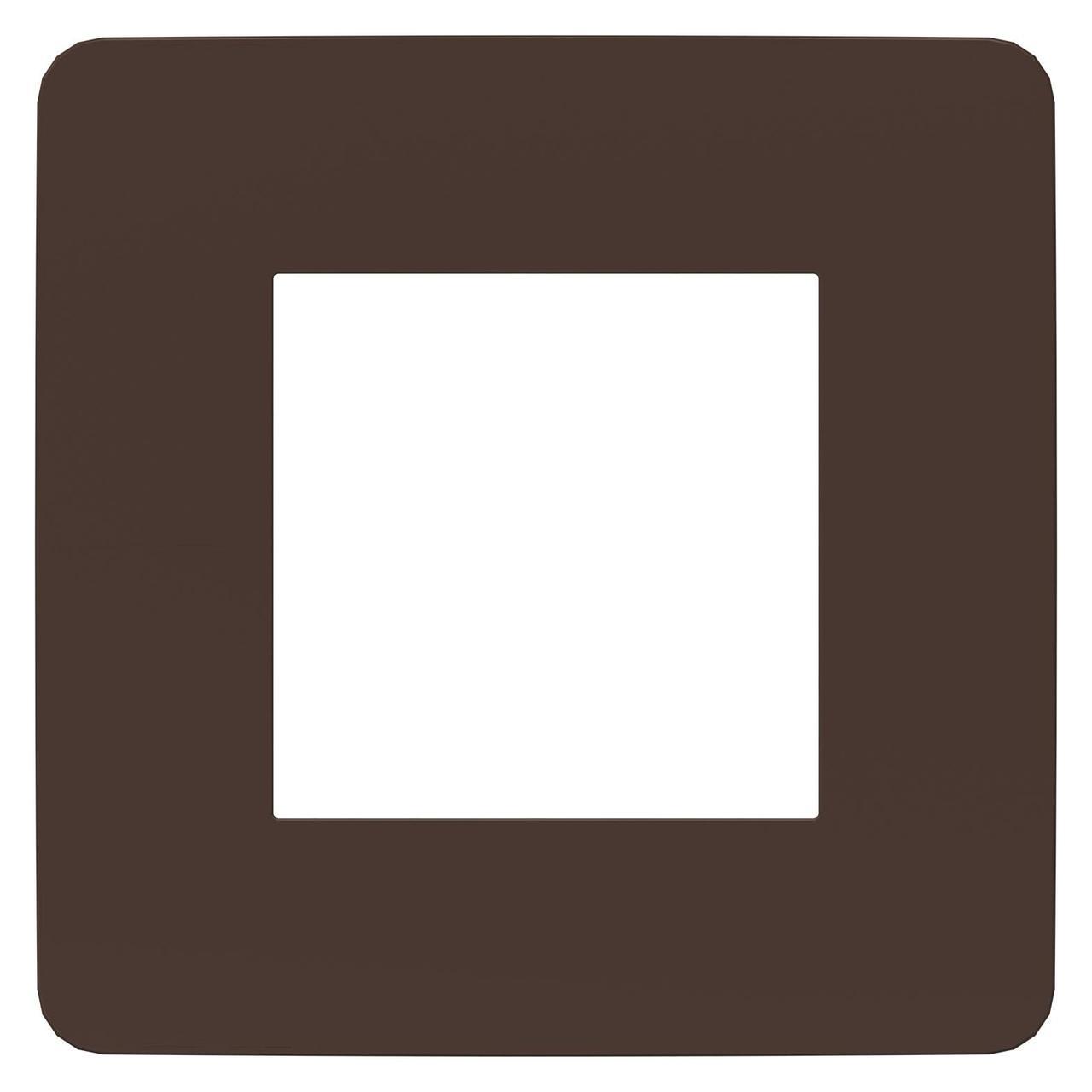 Рамка 1-ая (одинарная), Шоколад/Антрацит, серия Unica Studio, Schneider Electric