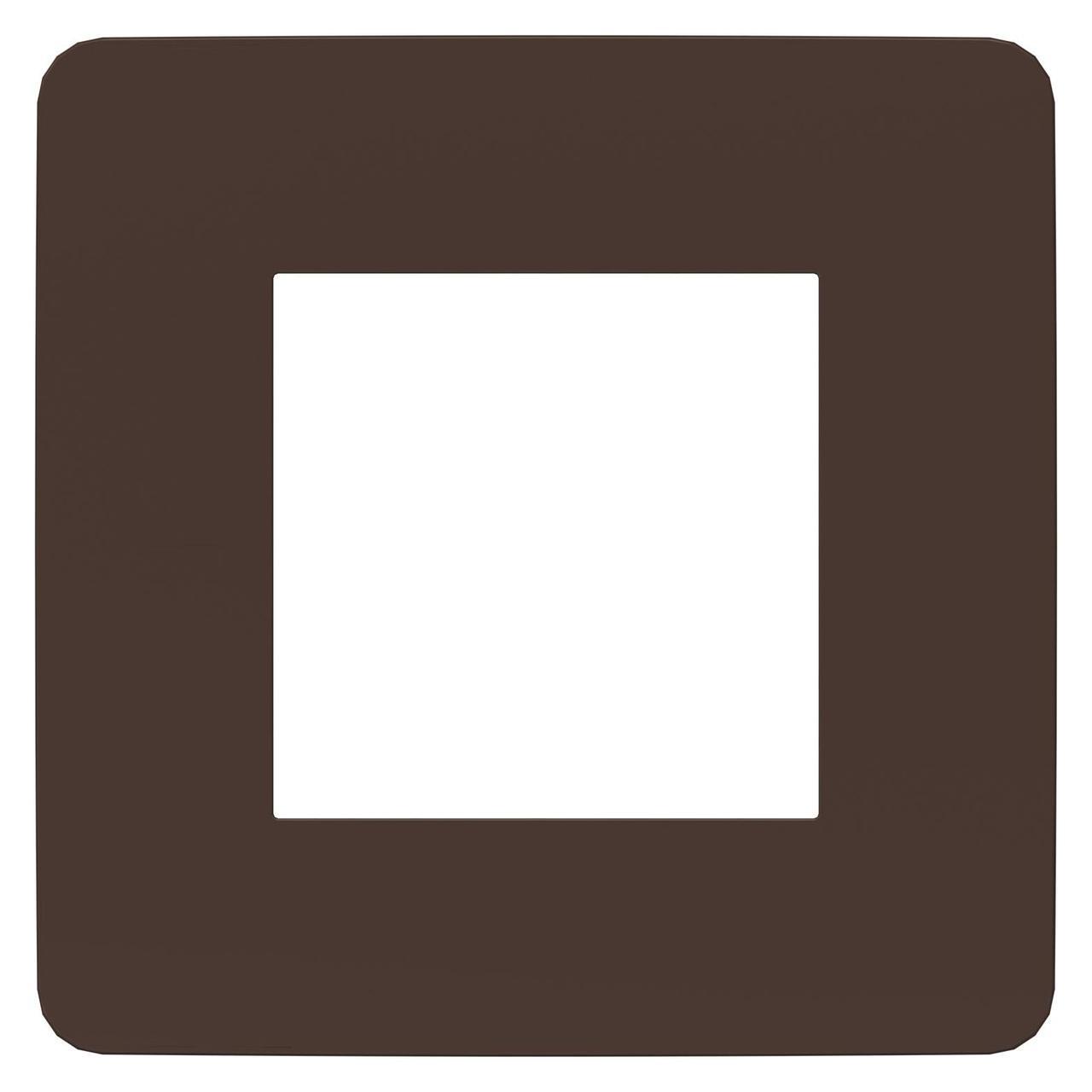Рамка 1-ая (одинарная), Шоколад/Белый, серия Unica Studio, Schneider Electric