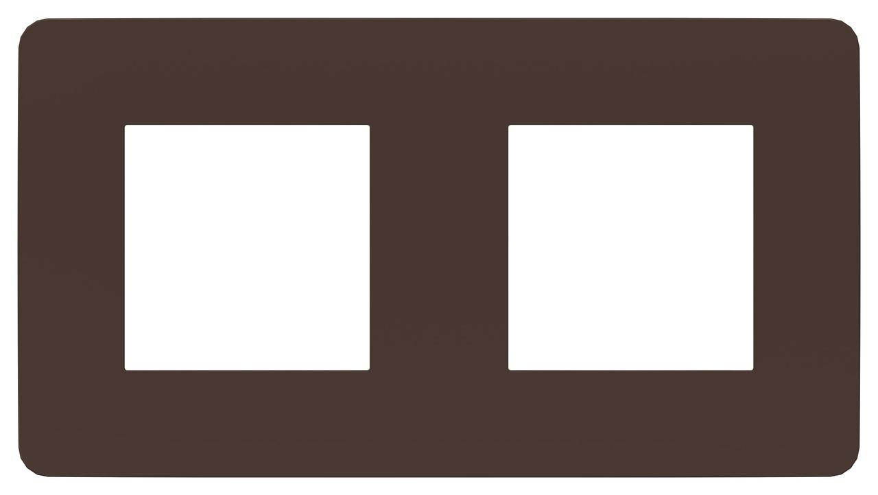 Рамка 2-ая (двойная), Шоколад/Антрацит, серия Unica Studio, Schneider Electric