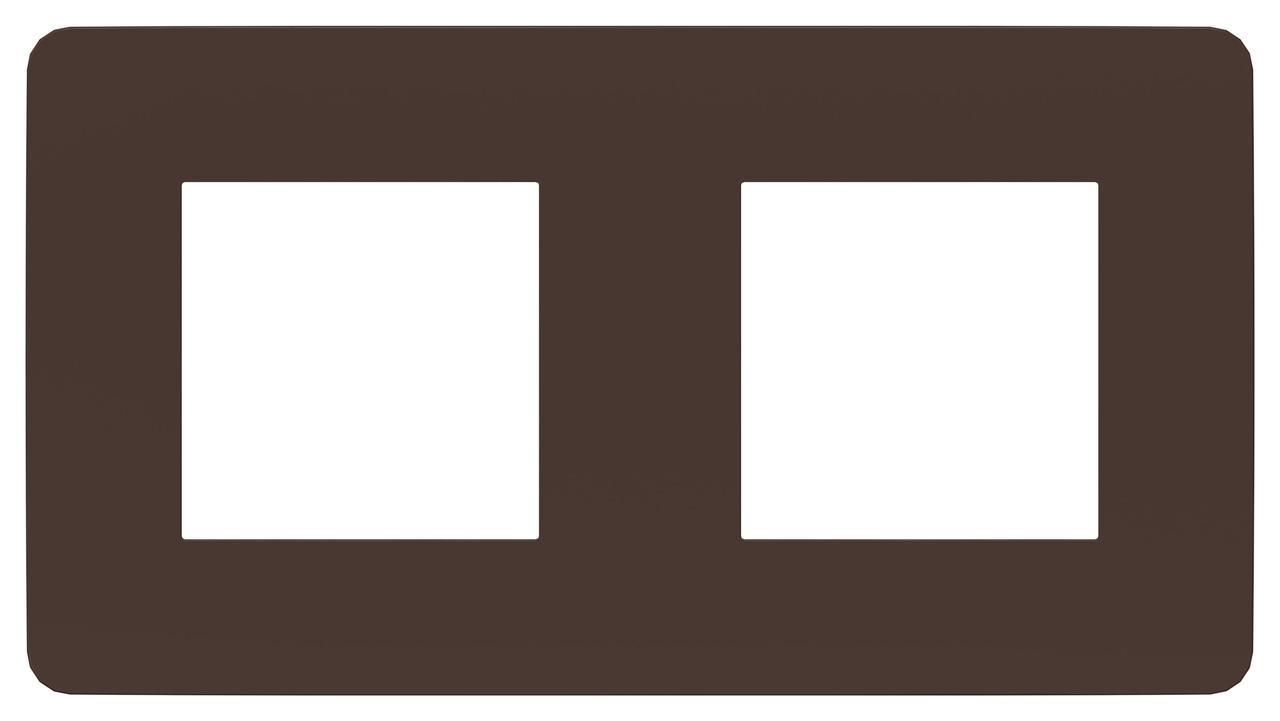 Рамка 2-ая (двойная), Шоколад/Белый, серия Unica Studio, Schneider Electric