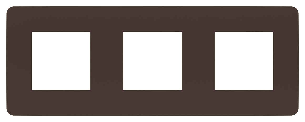 Рамка 3-ая (тройная), Шоколад/Антрацит, серия Unica Studio, Schneider Electric
