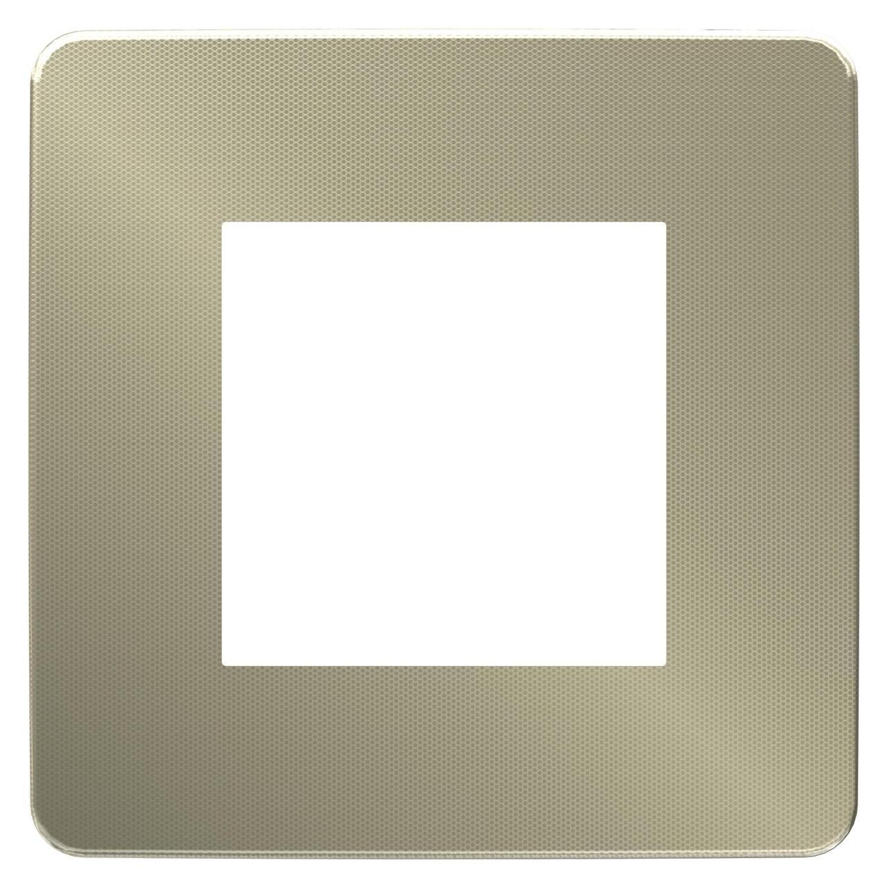 Рамка 1-ая (одинарная), Бронза/Белый, серия Unica Studio, Schneider Electric