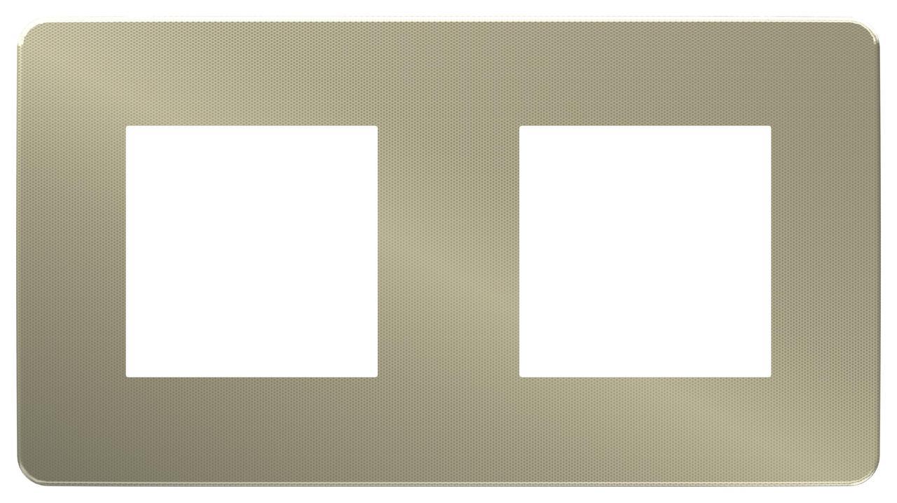 Рамка 2-ая (двойная), Бронза/Бежевый, серия Unica Studio, Schneider Electric