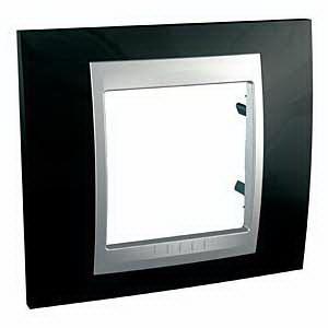 Рамка 1-ая (одинарная), Родий/Алюминий (металл), серия UNICA TOP/CLASS, Schneider Electric