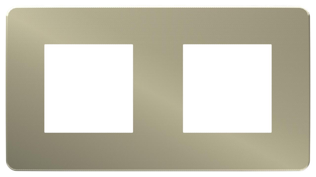 Рамка 2-ая (двойная), Бронза/Белый, серия Unica Studio, Schneider Electric