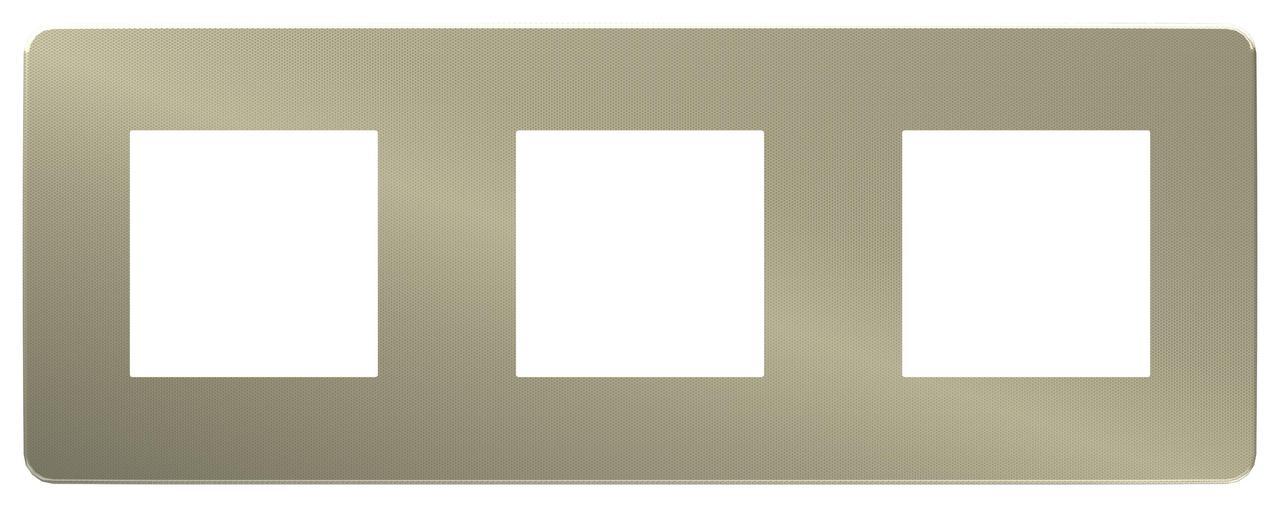 Рамка 3-ая (тройная), Бронза/Антрацит, серия Unica Studio, Schneider Electric