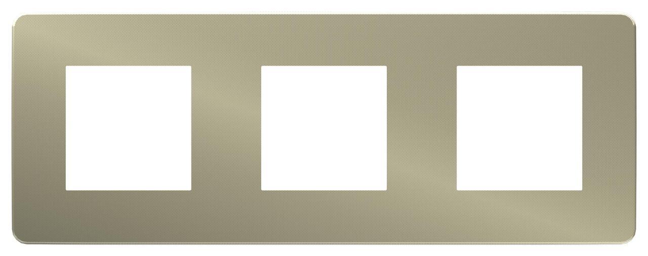 Рамка 3-ая (тройная), Бронза/Бежевый, серия Unica Studio, Schneider Electric