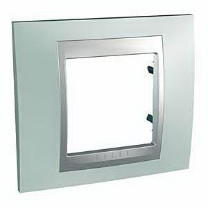 Рамка 1-ая (одинарная), Флюорит/Алюминий (металл), серия UNICA TOP/CLASS, Schneider Electric