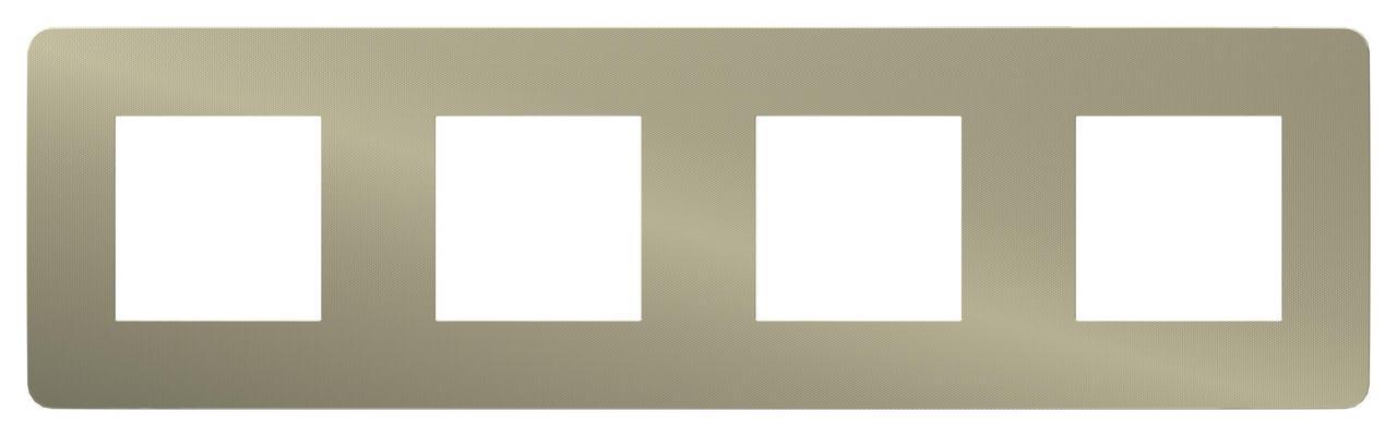 Рамка 4-ая (четверная), Бронза/Бежевый, серия Unica Studio, Schneider Electric