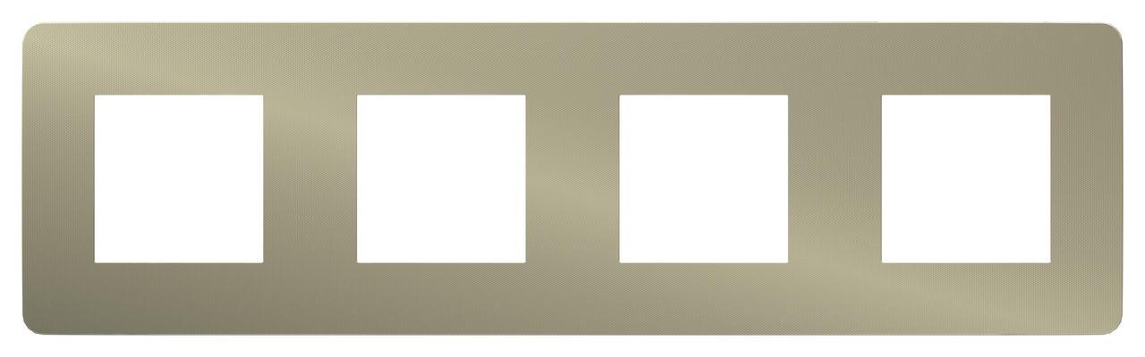 Рамка 4-ая (четверная), Бронза/Белый, серия Unica Studio, Schneider Electric