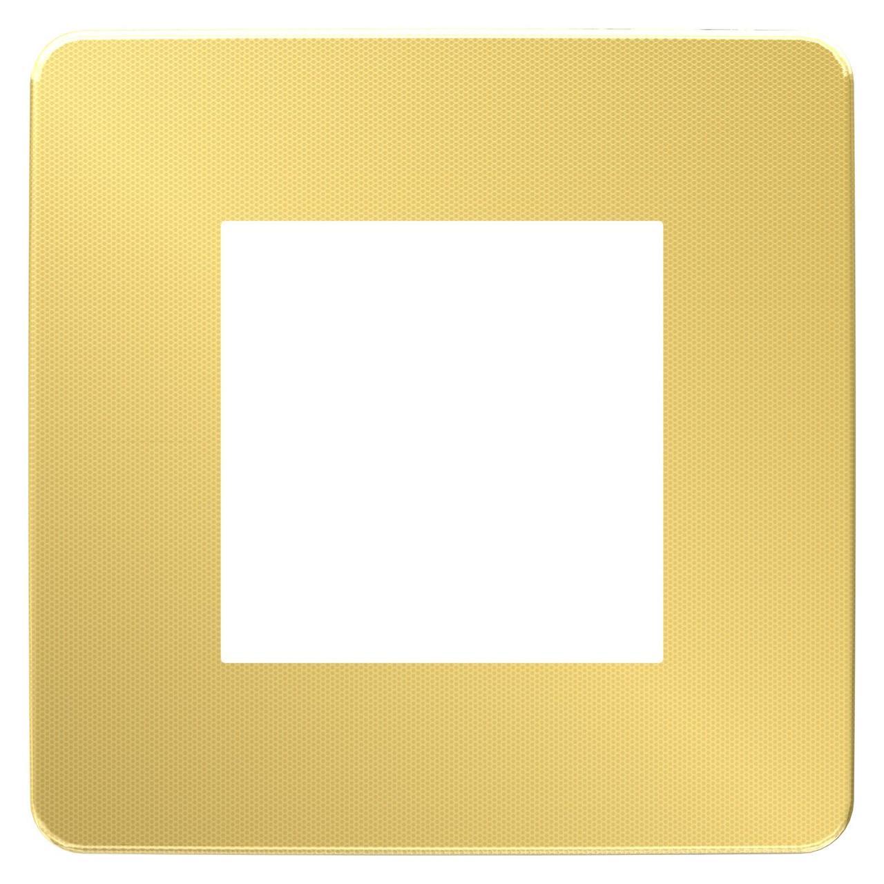 Рамка 1-ая (одинарная), Золото/Антрацит, серия Unica Studio, Schneider Electric
