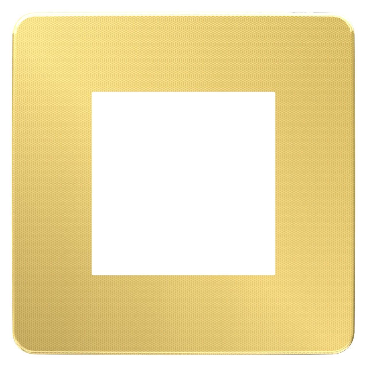 Рамка 1-ая (одинарная), Золото/Бежевый, серия Unica Studio, Schneider Electric